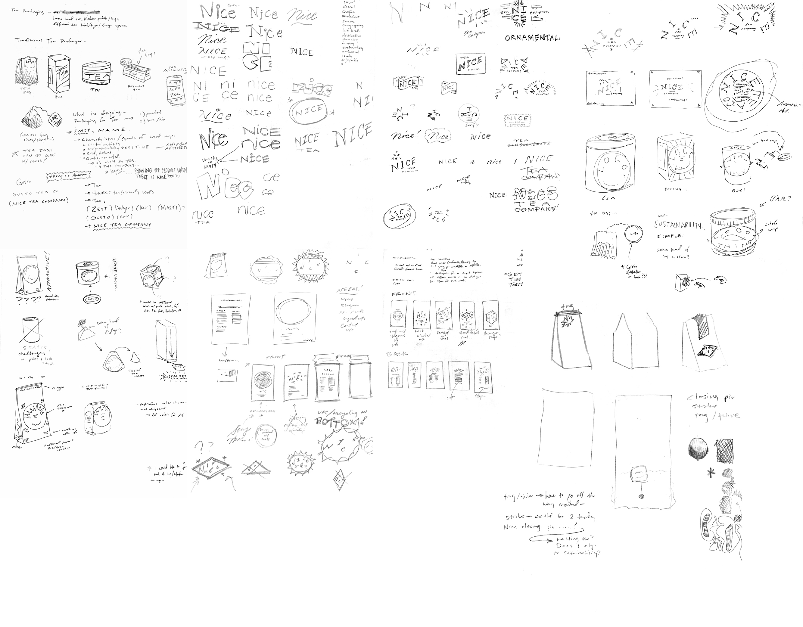 Packaging Sketches 1
